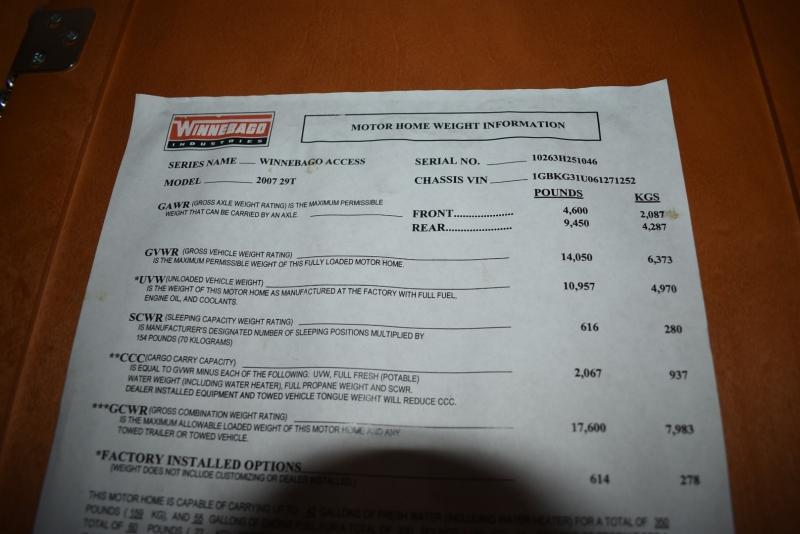 Winnebago ACCESS 2007 price $34,900
