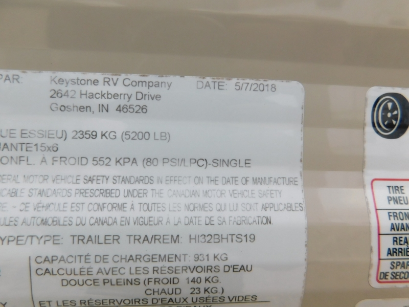 Keystone Hideout 2018 price $25,900