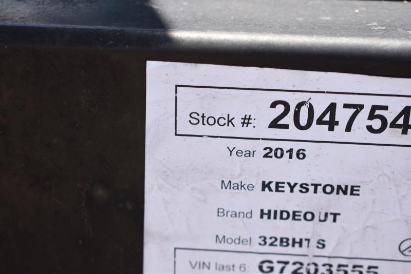 Keystone HIDEOUT 2016 price $22,900
