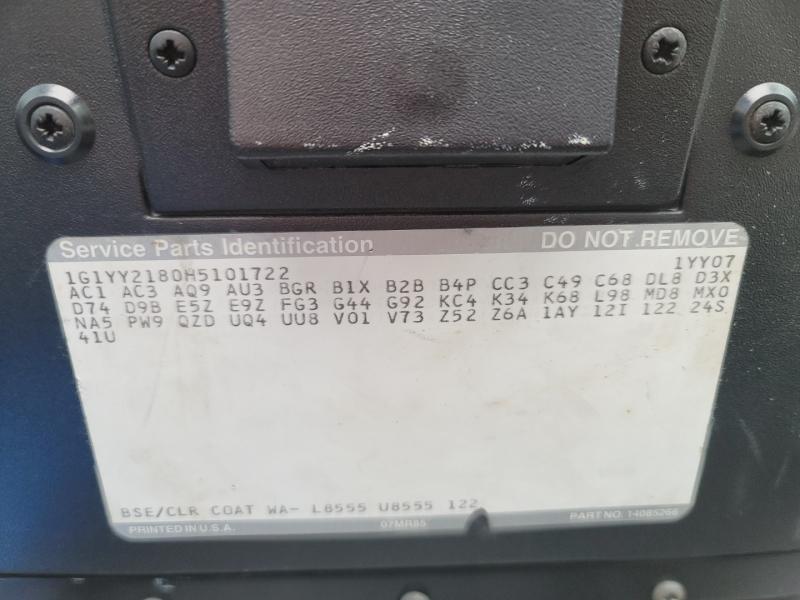 Chevrolet Corvette 1987 price $12,900