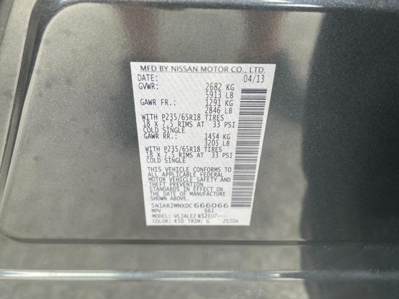 Nissan Pathfinder 2013 price $10,600