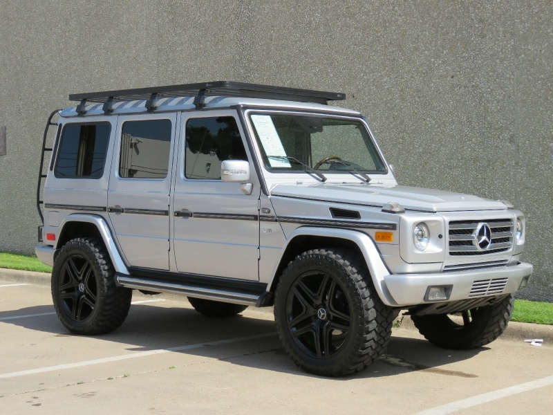 g500 custom stereo ome suspension lift kit 22 amg wheels 35 m t tires front runner roof rack east dallas diesel dealership in dallas 2002 mercedes benz g class 4dr 4wd 5 0l