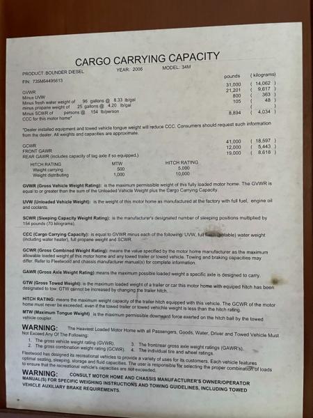 BOUNDER FLEETWOOD 2006 price $69,995
