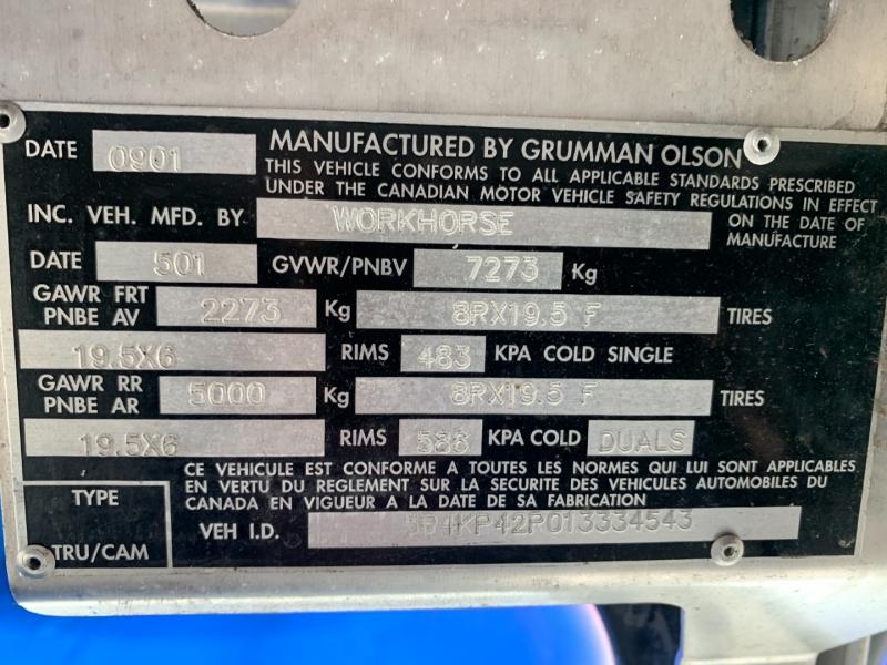 WorkHorse Grumman OLSON 2001 price $14,980