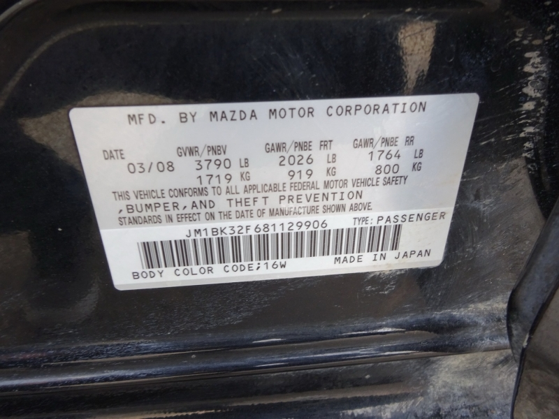 Mazda Mazda3 2008 price $3,995