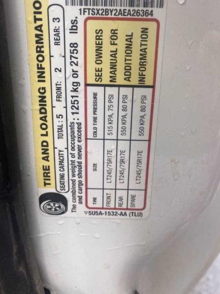 Ford F-250 Super Duty 2010 price $17,500