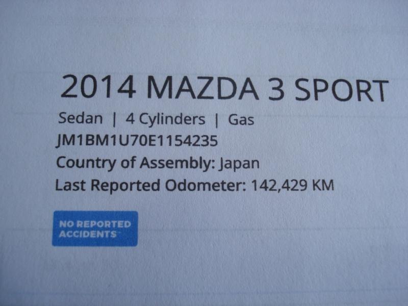 Mazda Mazda3 2014 price $6,990