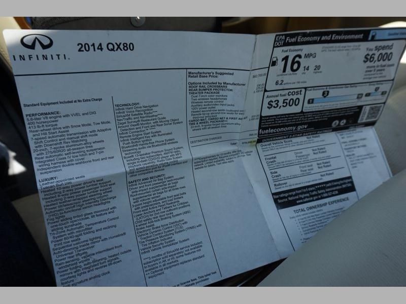 Infiniti QX80 2014 price $23,891