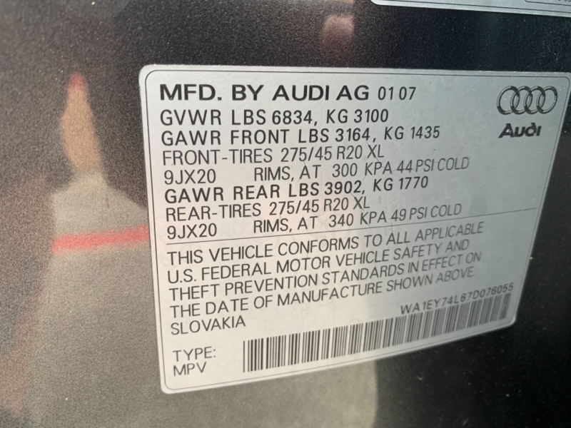 Audi Q7 2007 price $10,900