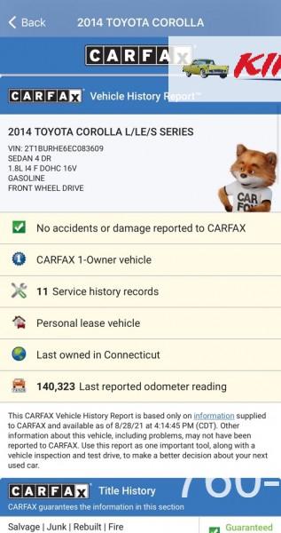 TOYOTA COROLLA 2014 price $12,000