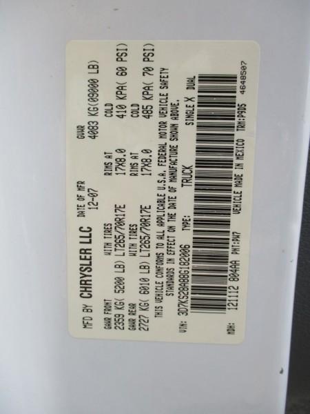 DODGE RAM 2500 2008 price $22,950