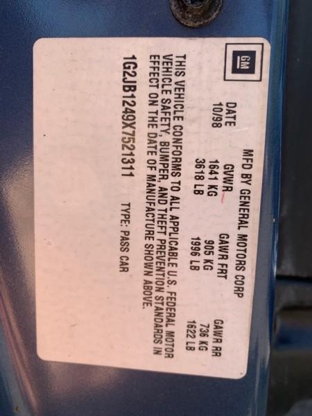 PONTIAC SUNFIRE 1999 price $1,800