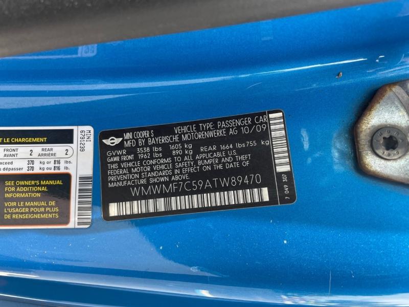 Mini Cooper Hardtop 2010 price $6,991