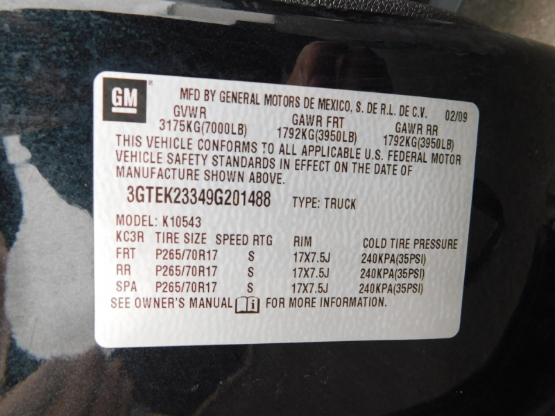 GMC Sierra 1500 2009 price $3,500 Down
