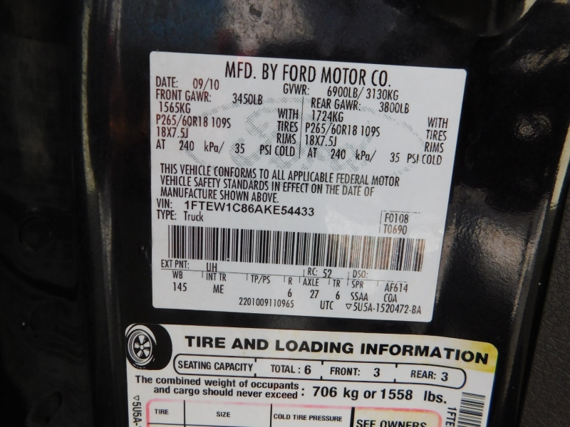 Ford F-150 2010 price $5,000 Down