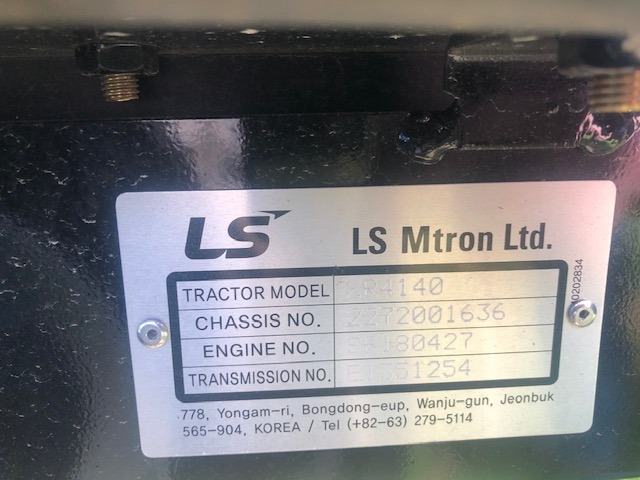 LS TRACTORS XR 4140 2020 price CALL FOR PRICE