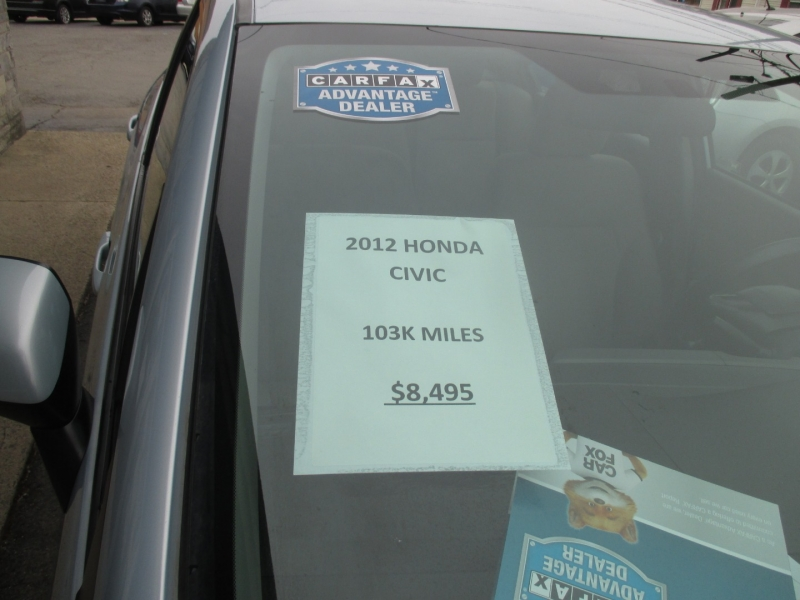 Honda Civic Sedan 2012 price $8,495