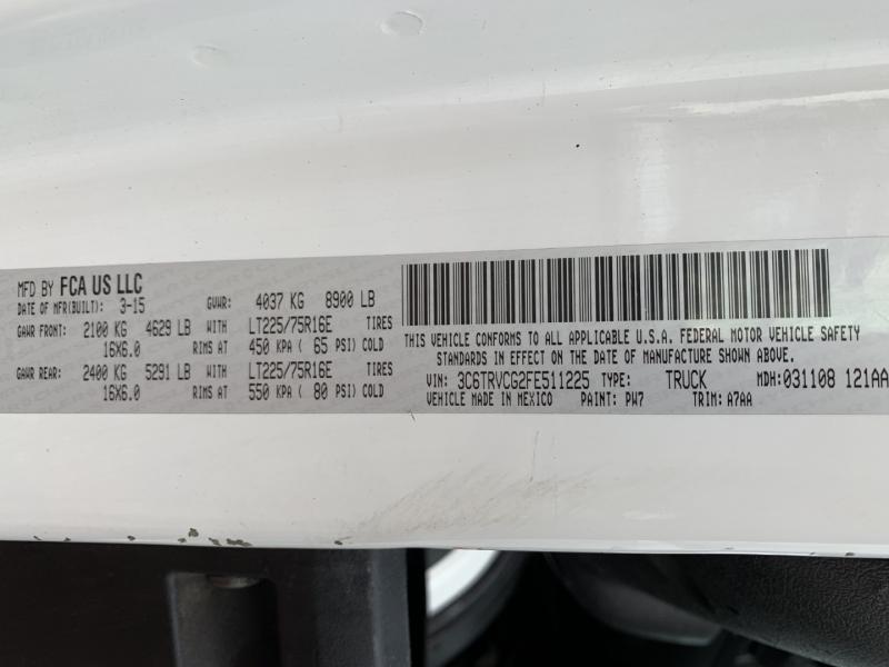RAM ProMaster 2015 price $19,895