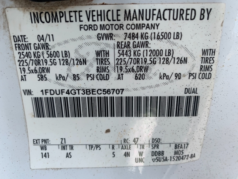 Ford Super Duty F-450 DRW 2011 price SOLD