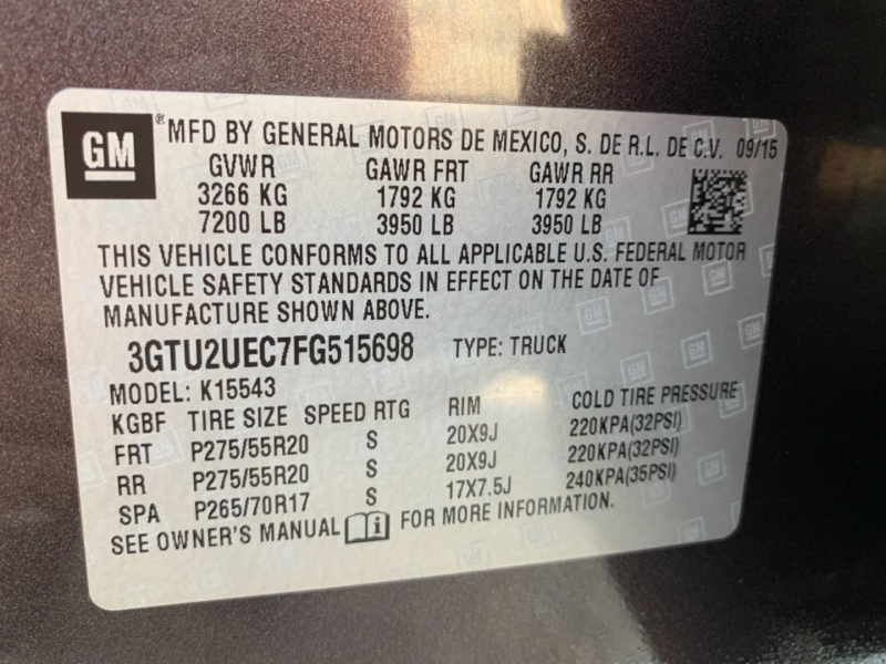 GMC Sierra 1500 2015 price $29,500
