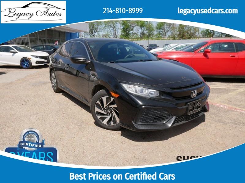 Honda Civic Hatchback 2017 price $14,995