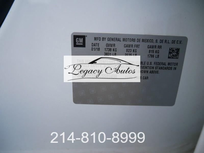Chevrolet Cruze 2018 price $18,495