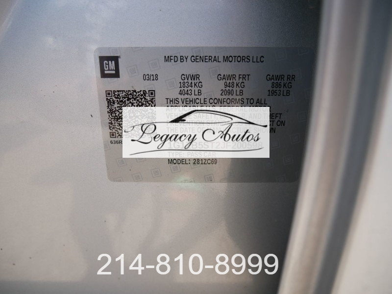 Chevrolet Malibu 2018 price $19,495