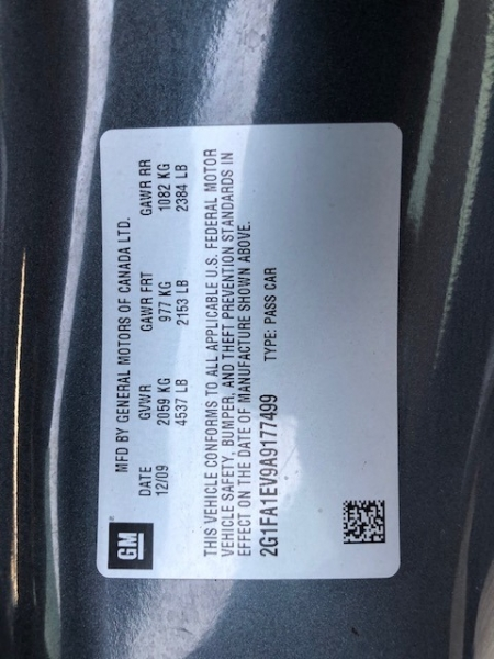 Chevrolet Camaro 2010 price $10,500
