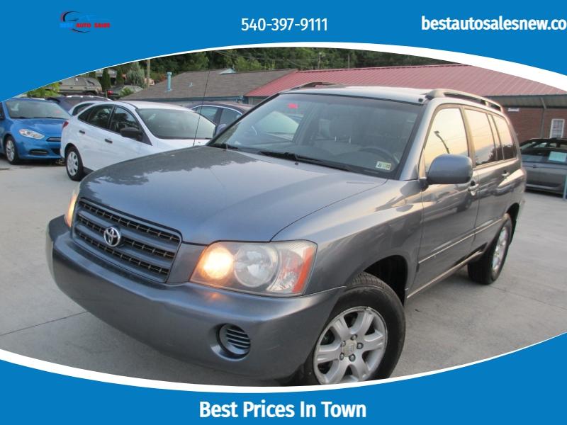 Toyota Highlander 2003 price $4,995