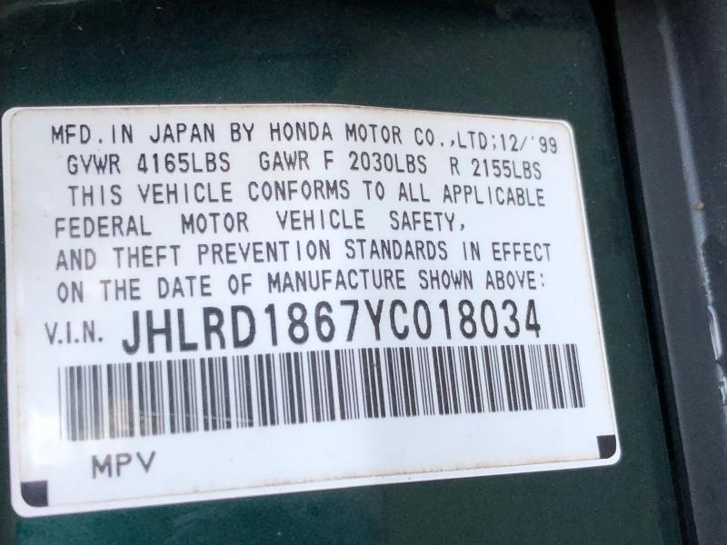 Honda CR-V 2000 price $3,460