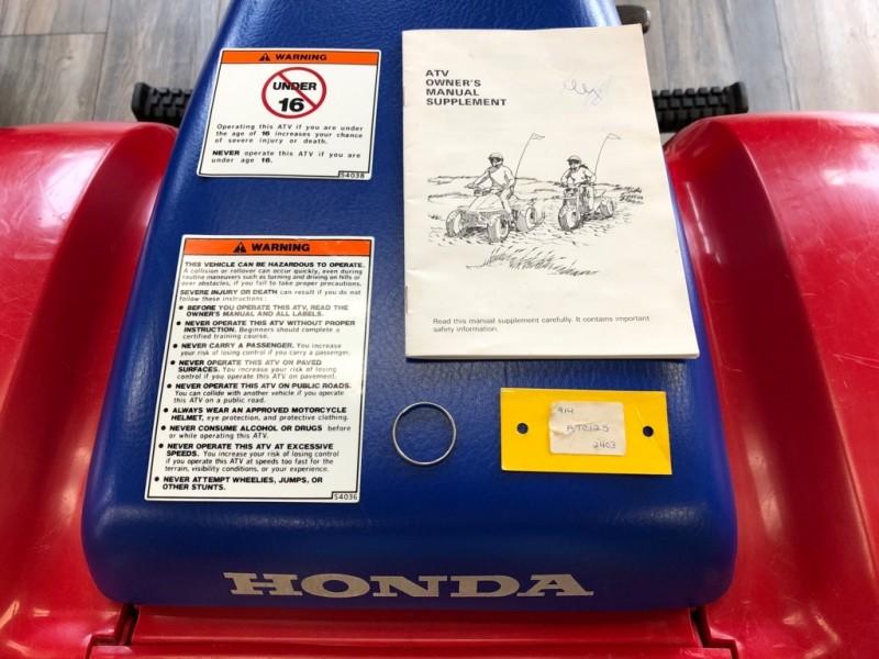 HONDA ATC 125M 1986 price $2,995