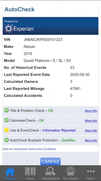 Nissan Quest 2016 price $9,995