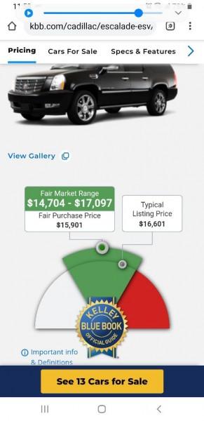 CADILLAC ESCALADE 2010 price $12,900