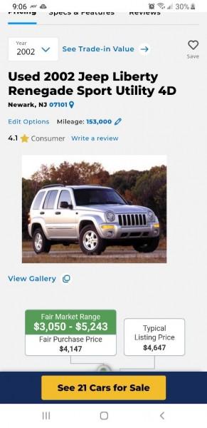JEEP LIBERTY 2002 price $4,250