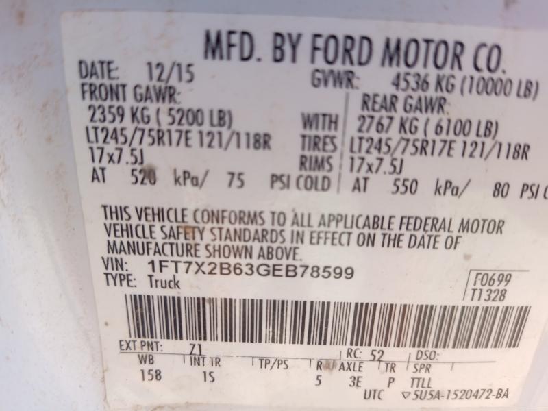 Ford Super Duty F-250 SRW 2016 price $24,900