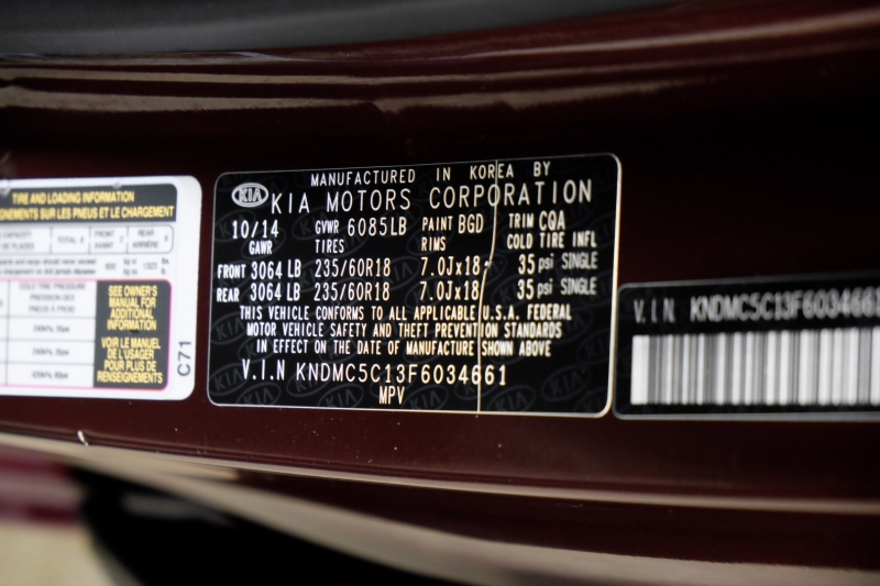 Kia Sedona 2015 price $13,990