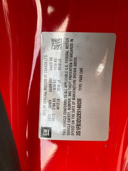 Chevrolet Camaro 2014 price $19,890