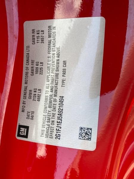 Chevrolet Camaro 2010 price $21,890