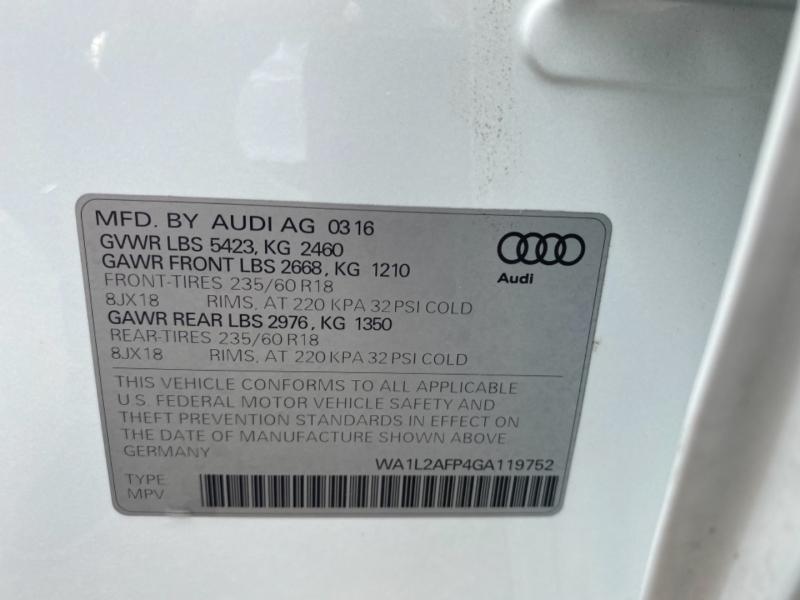 Audi Q5 2016 price $25,890