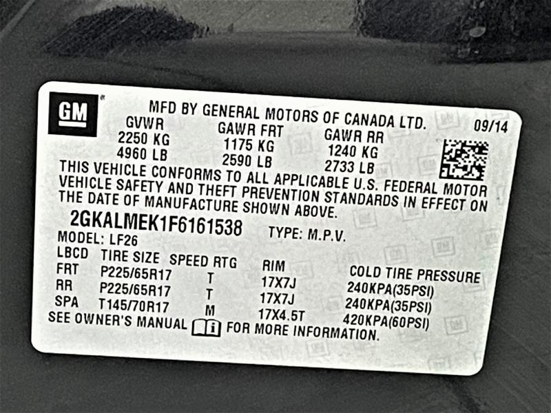 GMC Terrain 2015 price $11,995
