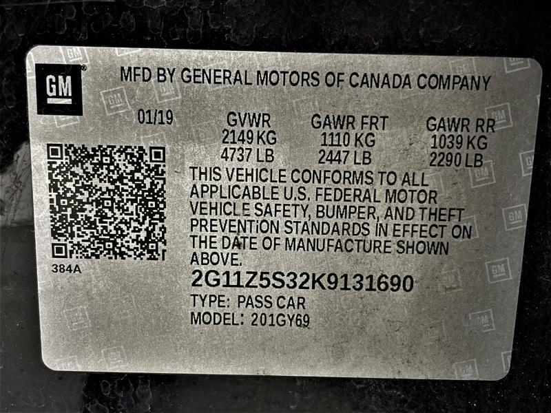 Chevrolet Impala 2019 price $19,995