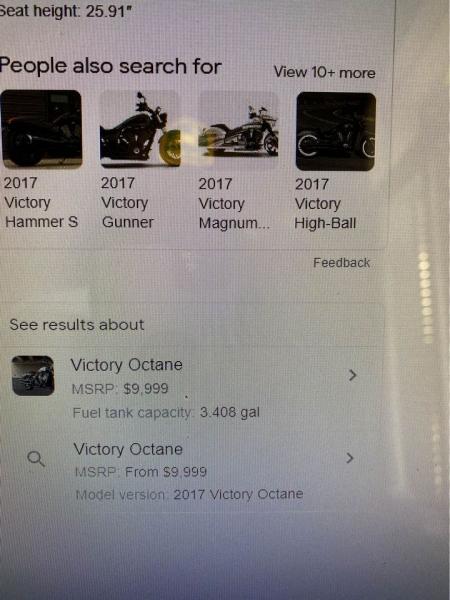VICTORY OCTANE 2017 price $6,500