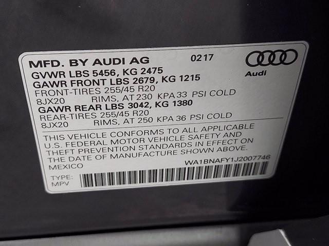 Audi Q5 2018 price $35,800