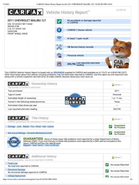 Chevrolet Malibu 2011 price $4,699