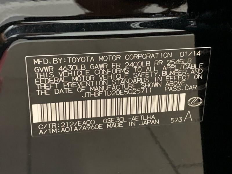 Lexus IS 250 2014 price $16,495
