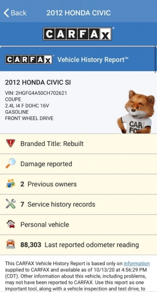 Honda Civic 2012 price $9,995