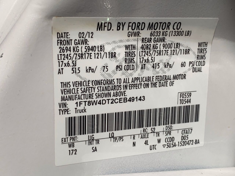Ford F-450 Super Duty 2012 price $36,995