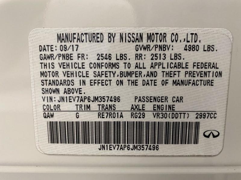 Infiniti Q50 2018 price $21,500