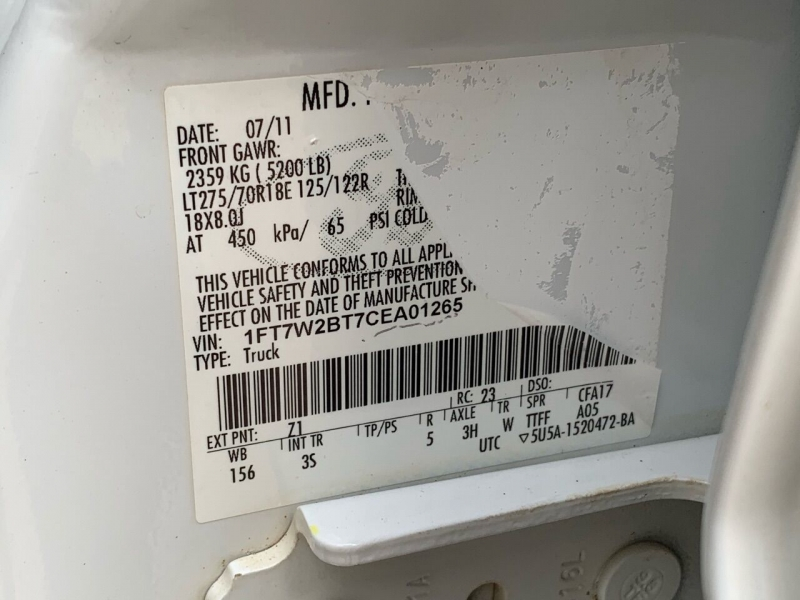 Ford F-250 Super Duty 2012 price $32,995
