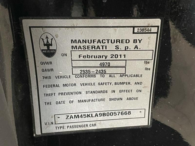 Maserati GranTurismo 2011 price $33,995